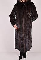 Шуба женская норковая из натурального меха (цв.коричневый, об.110см, дл.110см арт.31101 (Код: 2500002712690)