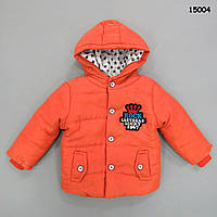 Демісезонна куртка для хлопчика. 75, 85 см