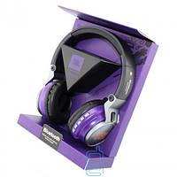 Bluetooth наушники с микрофоном MP3 FM JBL S400BT фиолетовые