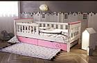 Кровать подростковая от 3 лет с бортиками Infinity, фото 3
