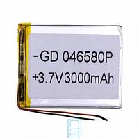 Аккумулятор GD 046580P 3000mAh Li-ion 3.7V