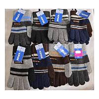 """Перчатки детские 2-ные с начёсом Корона 5205, с лейбой """"SPORT"""", размер S и M"""
