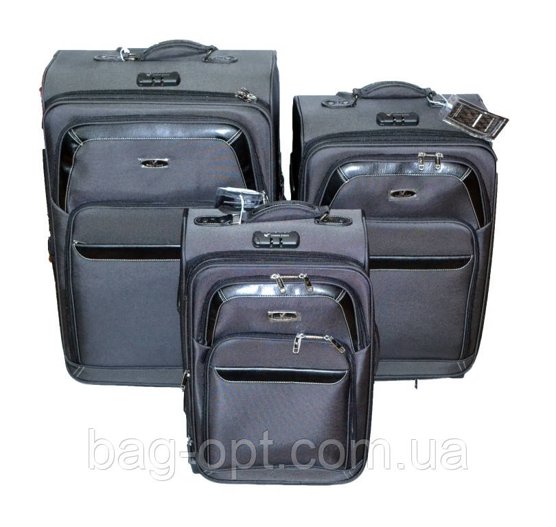 """Набір валіз Three birds 20"""",23"""",26"""" з розширенням (3шт)"""