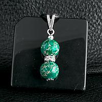 Варисцит зеленый, серебро, кулон, 588КЛВ