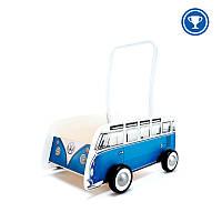 "Толкач ""Классический автобус"" синий, Hape E0381"