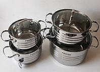 Набор кастрюль из нержавеющей стали (4 шт.), арт. FRU-693