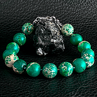 Варисцит зеленый, Ø10 мм., браслет, 289БРВ
