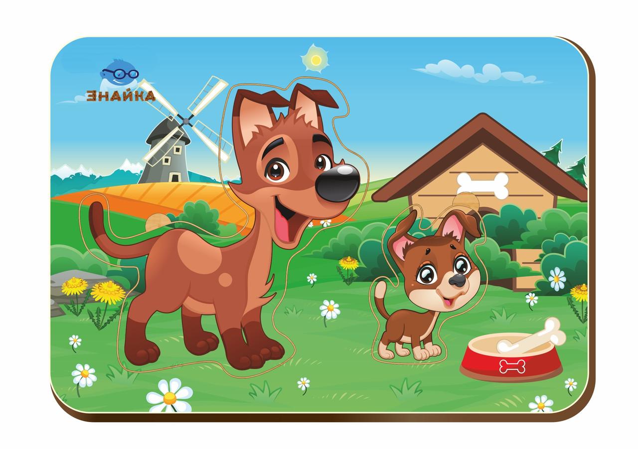 Деревянный вкладыш «Мама и детеныш», собаки-1