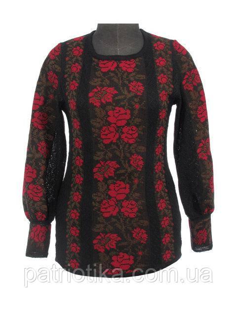 Вышиванка женская Розы красные х/б   Вишиванка жіноча Троянди червоні х/б