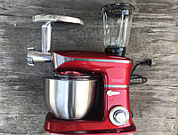 Кухонный комбайн (тестомес, мясорубка, миксер, блендер) Royalty Line 1800 Вт Red Germany, фото 1