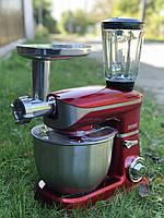 Бытовой кухонный комбайн (тестомес, мясорубка, миксер, блендер) Royalty Line 1800 Вт, фото 1