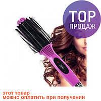 Утюжок для волос щетка выпрямитель расческа Nova 8810 / для укладки волос