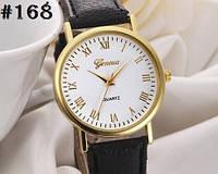 Женские часы/годинник Geneva с ремешком черного цвета (168)