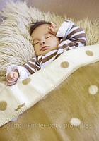 Одеяло детское двухстороннее в кружочек ТМ Womar  75х100 см 100%  хлопок