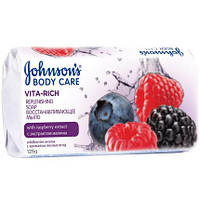 Мыло Johnson's Body Care Vita Rich Восстанавливающее с экстрактом малины 125 г