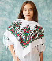 Українська хустка (90х90 см, біла) Класика