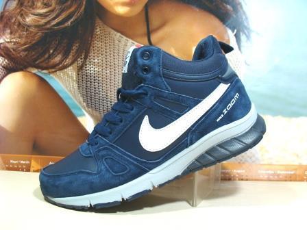 Мужские кроссовки зимние Nike Zoom (реплика) синие 41 р., фото 1