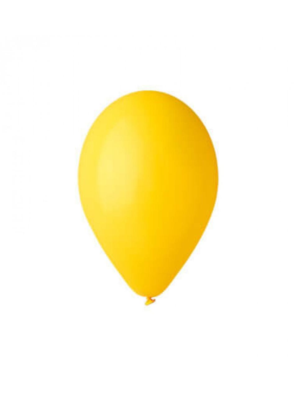 """Шары воздушные пастель желтый 8""""(21 см) 100шт"""