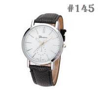 Женские часы с черным ремешком Geneva (145)