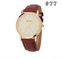 Женские часы с коричневым ремешком Geneva (77)