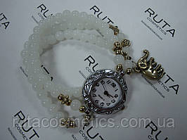 Наручний годинник-браслет, білі