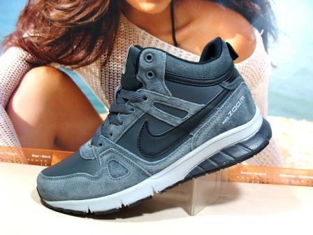 Кроссовки мужские зимние Nike Zoom (реплика) серые 43 р.