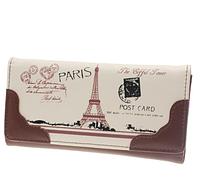 Кошелек женский коричневый Париж код 203
