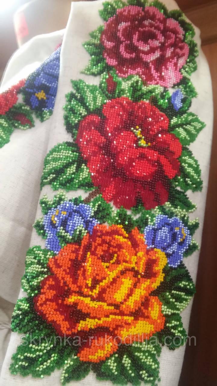 ... Заготовка для вишивки бісером нитками сорочка жіноча Буковинська ніжна 3d8d5f7c3d829