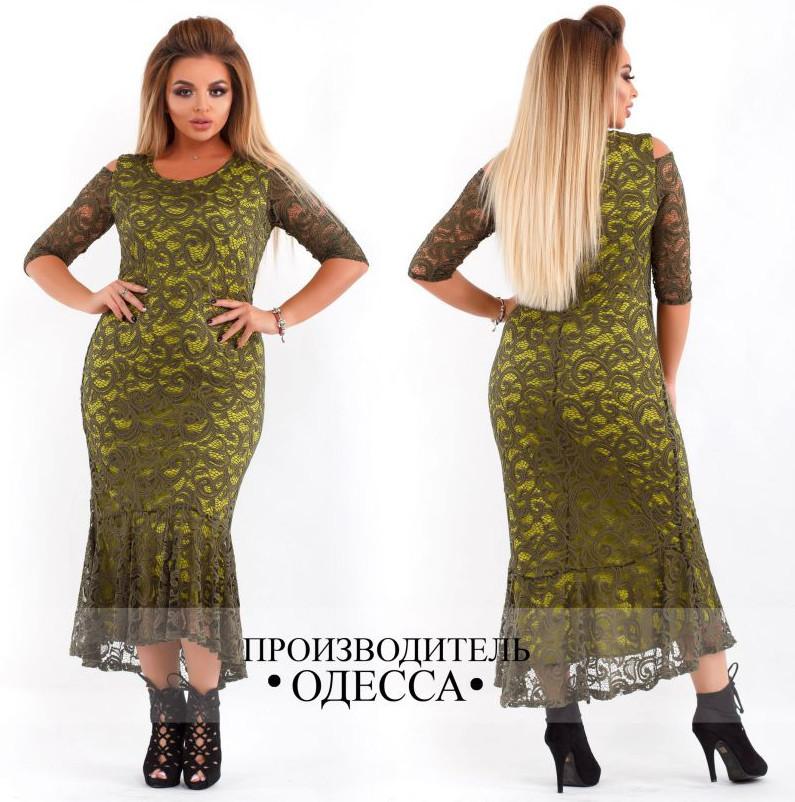 Вечернее платье большого размера осень весна недорого Украина интернет- магазин Фабрика моды ( р. 46-60 ) d8cdeb16a5a