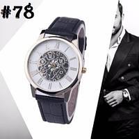 Мужские часы c ремешком черного цвета (78)