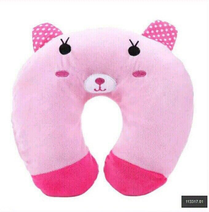 Подушка под голову - подкова (розовая)