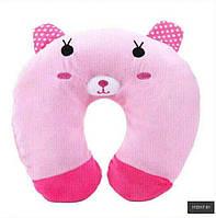 Подушка под голову - подкова (розовая), фото 1