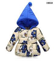 """Демисезонная куртка """"Цветы"""" для девочки. 100 см, фото 1"""