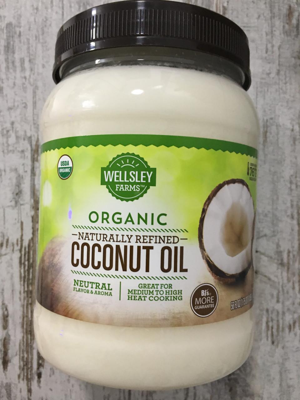 Органическое кокосовое масло WELLSLEY FARMS для приготовления пищи