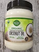 Органическое кокосовое масло WELLSLEY FARMS для приготовления пищи, фото 1