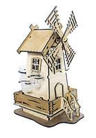 """Деревянный мини бар """"Мельница с рюмками"""" 42233"""