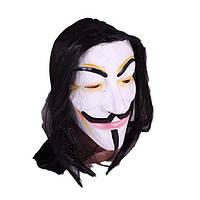 Маска на Хеллоуин Гай Фокс, маска Вендетта, силиконовая