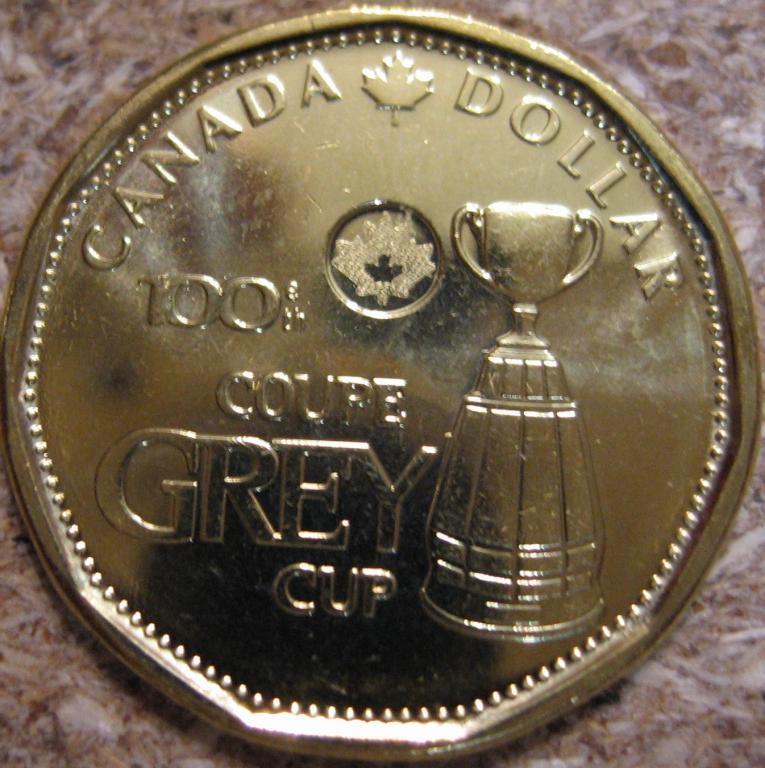 """Канада, 1 доллар 2012 """"Столетие Кубка Грея"""" UNC"""