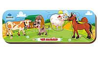 Вкладыш «Кто что ест?», корова-собака-овца-лошадь, 011903