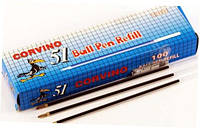 Стержень сменный для шариковой ручки черный (100шт) Corvino