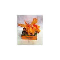 Игрушка Дракон Оранжевыйинтерактивный -звуковые и световые эффекты8899 Животные Дракон
