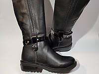 Кожаные зимние сапоги для девочки 33 и 35 размеры (SF07)