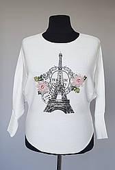 """Женская кофта белого цвета """"Париж"""""""