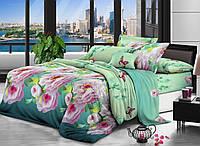 Евро комплект постельного белья DREAM-DREAM МИКРОСАТИН S 04(Райский сад)