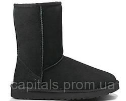 """Женские сапоги UGG Classic Short """"Black"""""""