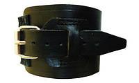 Напульсник кистевой кожаный фиксатор / спортивная защита на руку