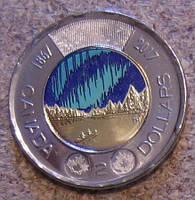 Канада, 2 доллара 2017, 150 лет Федерации, эмаль, UNC