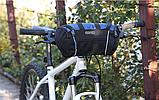 Велосипедна сумка на кермо чорно-синя, фото 3