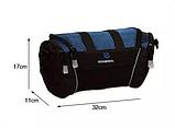 Велосипедна сумка на кермо чорно-синя, фото 5
