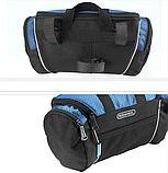 Велосипедна сумка на кермо чорно-синя, фото 6